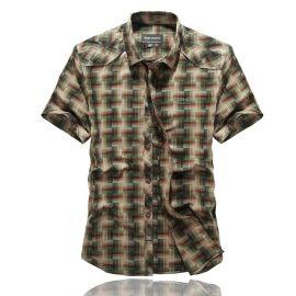 江苏男士衬衫 纯棉男士短袖衬衫 都市风格男式户外外套 男装 吉普战车