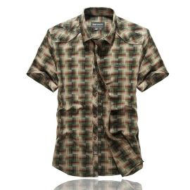 江蘇男士襯衫 純棉男士短袖襯衫 都市風格男式戶外外套 男裝 吉普戰車