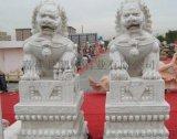 厂家定做 汉白玉 石雕动物  景区优质 石雕摆件  石狮子 价格合理
