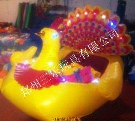 孔雀外罩充氣電瓶車質優價廉 河北廣場兒童娛樂電動車價格