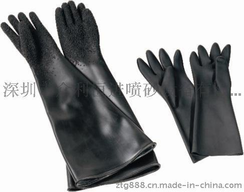 喷砂手套,喷砂机专用手套,喷砂橡胶手套