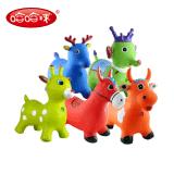 炫彩音乐宝宝跳跳马跳跳鹿充气儿童户外运动骑马塑料玩具加厚加大