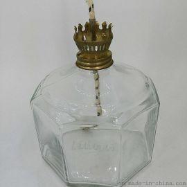 复古油灯 玻璃油灯瓶 煤油灯 灯罩 灯芯
