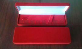高档PU皮植绒布奢侈钢笔礼品包装盒
