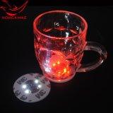 LED发光杯垫贴 深圳厂家定做酒吧用品LED汽车车载发光瓶贴杯垫贴