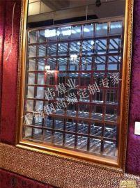 KTV包廂實用藝術型不鏽鋼精品酒架|不鏽鋼紅酒架展示架