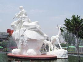 厂家设计加工 汉白 玉 石雕人物 景区石雕摆件