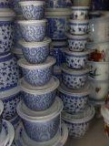 供应陶瓷花盆 各种青花瓷花盆定做