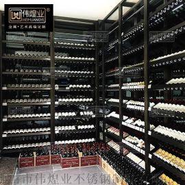 家用歐式創意展示架壁掛葡萄酒架廠家直銷不鏽鋼酒架懸掛式 不鏽鋼紅酒架
