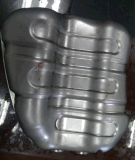大衆消聲器上下殼體雙層不鏽鋼五工序拉伸模具
