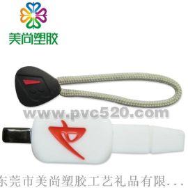 PVC软胶广告拉链头 塑胶广告拉牌