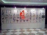 上海铝合金4cm厚艺术作品挂式无缝展板出租