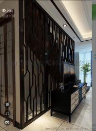 佛山不锈钢屏风酒店日式镂空隔断办公室家具屏风花格厂家定制