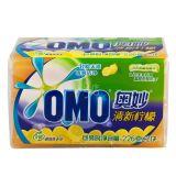 正品OMO奥妙超效99洗衣皂肥皂透明皂206g2块x24组