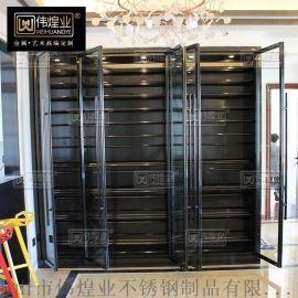 不鏽鋼酒櫃定制 客廳不鏽鋼恆溫紅酒櫃廠家直銷 恆溫常溫紅酒櫃
