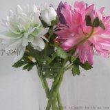 仿真花 一花一蕾菊花仿真花