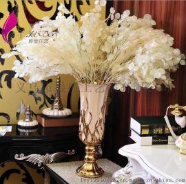 高档欧式仿真植物盆栽 装饰假花艺套装 珍珠叶花束 义乌厂家批发