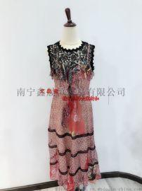 广西女装批发一二线品牌折扣女装货源大码连衣裙批发