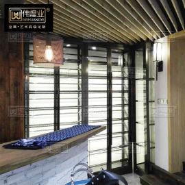 餐厅不锈钢恒温红酒柜不锈钢洋酒类陈列展示架