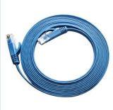 科創工程級超六類千兆網路扁平網線、電腦網路跳線 淺藍色 1米