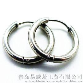 2017时尚316L不锈钢穿刺饰品耳钉耳环