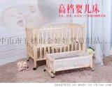 廠家批發 金娃娃6997豪華型進口實木嬰兒牀 多功能新穎無漆