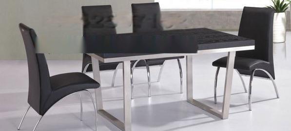 佛山嵘洪YH-2016大气优雅的拉丝不锈钢餐桌椅