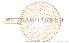 博胜带把圆形铜烤网烧烤烤肉网