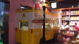 铁皮餐车 固定小卖部 移动餐车 装饰工艺品 工艺艺术品