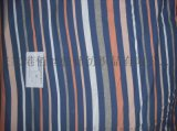色織大迴圈全棉羅紋布 彩條螺紋布
