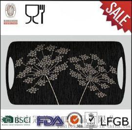 宏冠仿瓷食具|密胺託盤|快餐盤|酒店託|長方形託盤|花卉食具