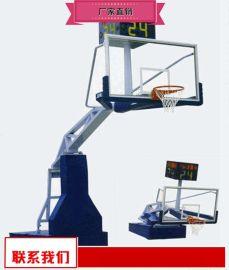 钢化玻璃篮球架生产商 升降篮球架生产厂