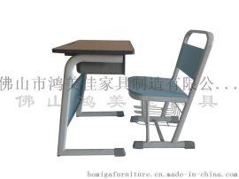 广东钢木学校家具工厂 批发定做木板学生课桌椅