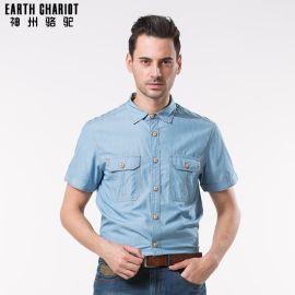 男装短袖衬衫 商务男装T恤 男士衬衫批发 职业装