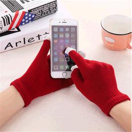蓝牙耳机通话免提手套保暖三指触摸屏手套时尚滑屏手套