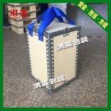 浙江生产钢带木包装箱无钉可拆卸进叉车带托盘木箱