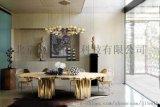 【图】钛金镜面不锈钢餐桌加工厂家_金利恒家具