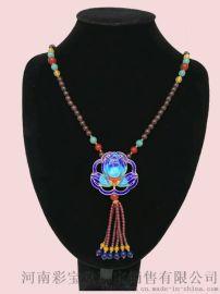 郑州五皇一后珠宝供应石榴石毛衣链
