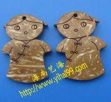 椰壳雕刻小卡通人物