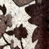 丝绸和涤纶的结合锦绒乔其绒印花布制作围巾披肩高档女装旗袍苏州工厂定制