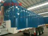 後翻自卸車半掛運輸車集裝箱車輛蒼藍欄板低平板箱式