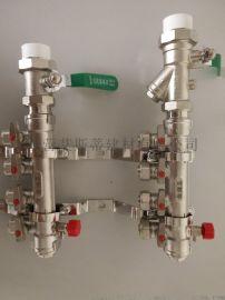 主管一寸工程用铜镀镍地暖分水器