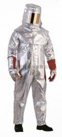 代尔塔402017 19N级连体服,镀铝隔热消防救援金属冶炼防护服