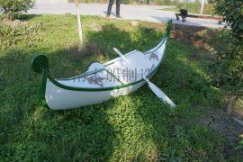 千年舟木船厂家供应木船厂手工制造欧式木彩绘装饰景观船