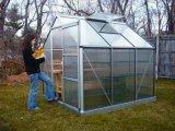 【園林溫室】鋁合金PC陽光板組合式溫室花房 蔬菜溫室大棚 暖房花棚