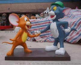 猫和老鼠玻璃钢雕塑广场娱乐景观雕塑