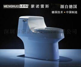 蒙諾雷斯6927A節水馬桶連體坐便器陶瓷座便器雙孔超旋帶緩慢蓋板