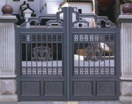 北京定制安装别墅铝艺庭院门,防盗铝艺平移门,平开门