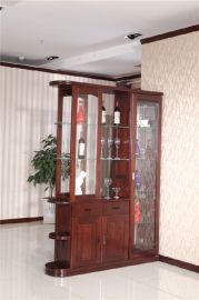 廠家直銷客廳實木間廳櫃 整體框架實木家具