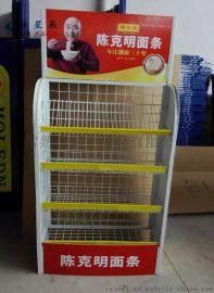 厂家定制超市食品促销架 方便面陈列架 单面金属展示架货架图片